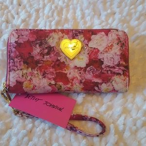 Betsey Johnson Pink Floral Wallet